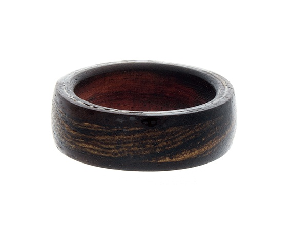 Mens Wedding Band Unique Mens Ring Wood Ring Rosewood Ring Flat Ring on Lu